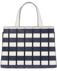 Max Mara - Small Striped Leather Top Handle Bag - Lyst