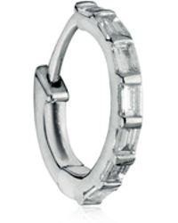Stone Paris | Baguette Tiny Hoop Mono Earring | Lyst