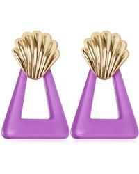 RIXO London - Shell & Triangle Resin Earrings - Lyst