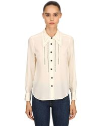 COACH - Silk Crepe Shirt - Lyst