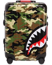 "Sprayground - 22"" Camo Shark Carry-on Spinner - Lyst"