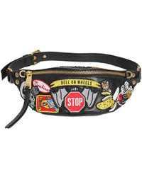 Moschino | Hell On Wheels Patches Leather Belt Pack | Lyst