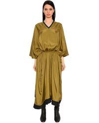 Nehera - Oversized Draped Satin Dress - Lyst