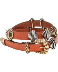 Etro - Leather Belt W/ Sliding Metal Details - Lyst