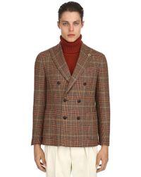 Lardini - Exclusive English Fabric Wool Jacket - Lyst