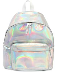 Eastpak - 24l Padded Iridescent Leather Backpack - Lyst