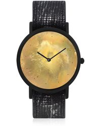 South Lane - Avant Exposed Watch Black Silver Dots - Lyst