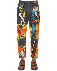 JW Anderson - 20cm Stain Glass Printed Denim Jeans - Lyst