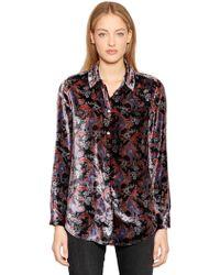 Equipment - Essential Printed Velvet Shirt - Lyst