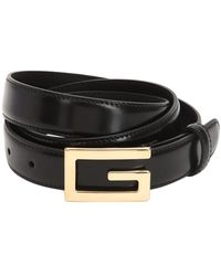 "Gucci - ""Cintura """"g-cube"""" In Pelle 25mm"" - Lyst"