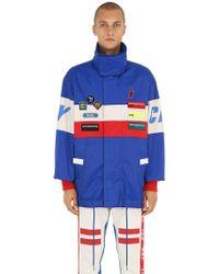 DIESEL - Color Block Parka Jacket W/ Patches - Lyst
