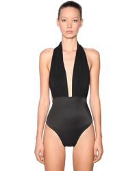 Norma Kamali - Halter Lycra One Piece Swimsuit - Lyst