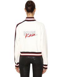 Karl Lagerfeld - Karl X Kaia Embroidered Track Jacket - Lyst