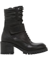 FRU.IT - 50mm Lace Up Leather Ankle Boots - Lyst