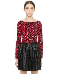 Blugirl Blumarine - Leopard Printed Viscose Sweater - Lyst