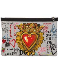 Dolce & Gabbana - Murales Printed Nylon Pouch - Lyst