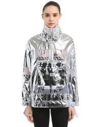 Nike - Metallic Nylon Windbreaker Jacket - Lyst
