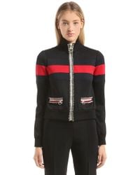 Gucci - Crystal Piped Techno Jersey Jacket - Lyst