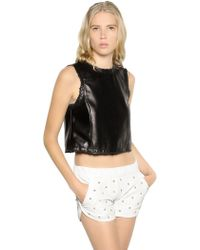 DROMe | Cropped Sleeveless Nappa Leather Top | Lyst