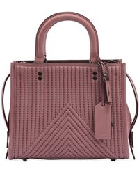 COACH - Rogue Studs Quilted Nappa Leather Bag - Lyst