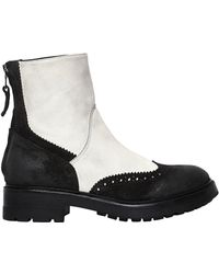Strategia - 30mm Brogue Leather Ankle Boots - Lyst