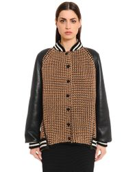 Akris | Cashmere & Leather Bomber | Lyst