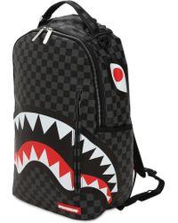 "Sprayground - Zaino ""black Checkered Shark In Paris"" - Lyst"