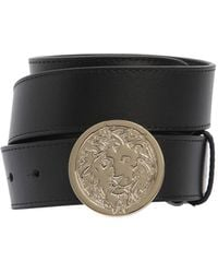 Versus  | 35mm Lion Buckle Smooth Leather Belt | Lyst