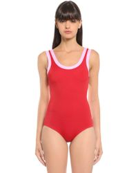 Valentino - Two Tone Lycra Swimsuit - Lyst