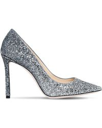 Jimmy Choo - 100mm Romy Gradient Glittered Court Shoes - Lyst