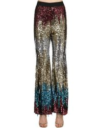 Amen - Sequined Multi Colour Flair Trousers - Lyst