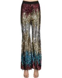 Amen - Sequined Multi Color Flair Pants - Lyst