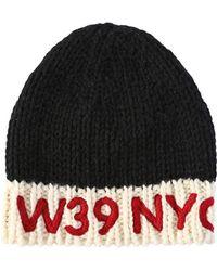 CALVIN KLEIN 205W39NYC - Logo Embroidered Wool Knit Beanie Hat - Lyst