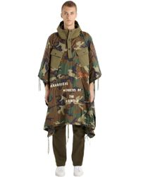 Maharishi - World Tour Quilted Camo Nylon Poncho - Lyst