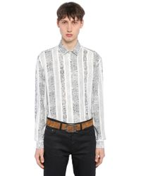 Saint Laurent - Arabesque Printed Viscose Shirt - Lyst