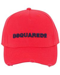 DSquared² - Logo Embroidered Gabardine Baseball Hat - Lyst
