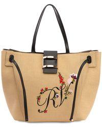 Roger Vivier - Large Viv' Embroidered Tote Bag - Lyst