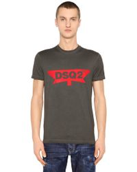 DSquared² - Dsq2 Printed Cotton Jersey T-shirt - Lyst
