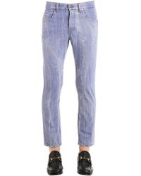 Gucci | Wolf Patch Marbled Cotton Denim Jeans | Lyst
