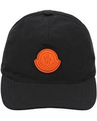 058b30b0c13 Lyst - Moncler Men s Reversible Cotton Nylon Bucket Hat Navy Blue in ...