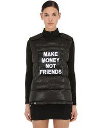 MAKE MONEY NOT FRIENDS - Chaleco De Algodón Con Logo - Lyst