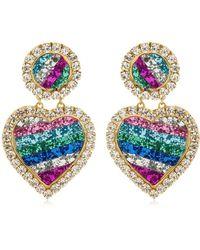 Shourouk - Mini Marilyn Rainbow Crystal Earrings - Lyst
