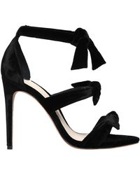 Alexandre Birman - 100mm Lolita Knots Velvet Sandals - Lyst