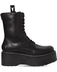 Windsor Smith - 70mm Lindsay Leather Wedged Boots - Lyst
