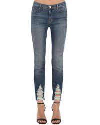 "J Brand Jeans Skinny ""maude"" In Denim Stretch"