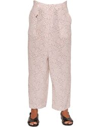 Incotex - Ines Floral Printed Silk Twill Trousers - Lyst