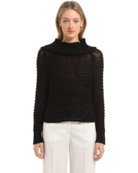 CALVIN KLEIN 205W39NYC - Off The Shoulder Cotton Knit Sweater - Lyst