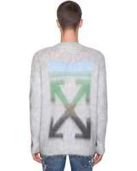 a18ad5968e35 Off-White c o Virgil Abloh - Diag Brushed Mohair Blend Knit Sweater -