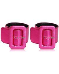 Attico - Metallic Leather Ankle Cuffs - Lyst