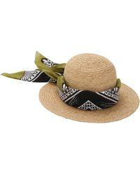 Borsalino - Printed Bandana Straw Hat - Lyst
